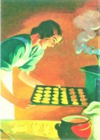 Themes Vintage illustrations/pictures - Baking