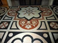 Tile floor in Europe - pretty!
