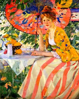 Young Lady with Parasol 1910 by Karl Albert Buehr