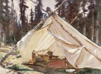 John Singer Sargent--A Tent in the Rockies, 1916