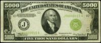 1934 Five Thousand Dollar Federal Reserve Note