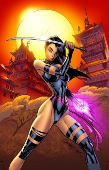 Psylocke by J Scott Campbell