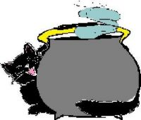 CA 712 - Halloween cauldron and cat