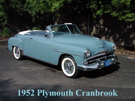 1952 Plymouth Cranbrook  (convertible)