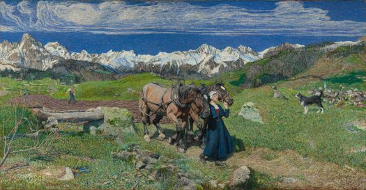 Spring in the Alps, Giovanni Segantini, 1897