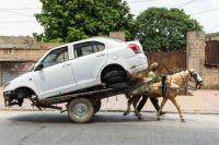 Man Transports A Car
