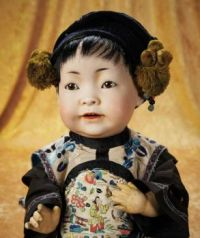 Bisque Chinese Baby Doll by Kestner