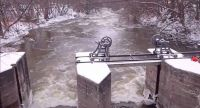 The Old Mill in Beaverton (after the ice jam broke up)