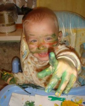 Finger paint face paint, what's the diff?