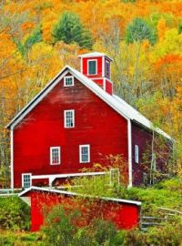 Red Barn -- New England Autumn...