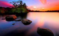 nature-landscape-stones-rocks-water-clouds-sunset
