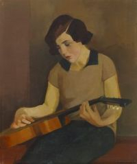 Vaino Hervo 1929 woman and guitar