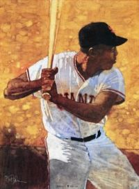 Portrait of Willie Mays