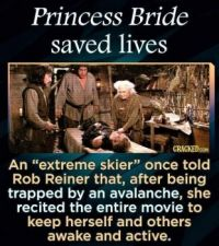 15 Inconceivable Facts - Princess Bride Saved Lives