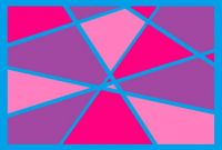 Blue and Pink Abstract