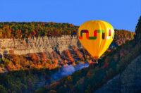 Balloon over Letchworth State Park