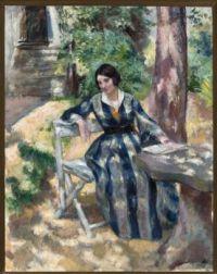 Wojciech Weiss (Polish, 1875–1950), Portrait de Irena, la femme de l'artiste (1917)