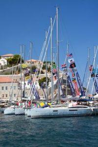 Patmos Harbor during Yacht Week