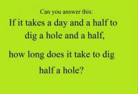 half a hole
