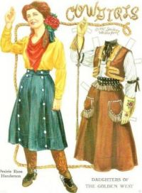 Themes Vintage illustrations/pictures - Cowgirl Paper Doll