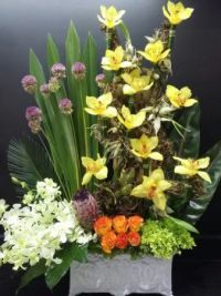 Happiness is....Exotic Floral Art Arrangement.