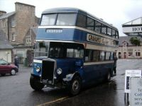 Callander - Vintage bus outside The Dreadnought