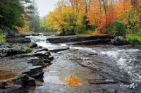 Upper Canyon Falls, Sturgeon River, Michigan USA