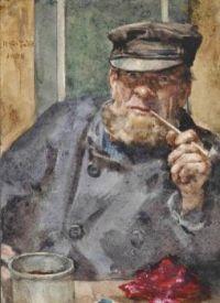 Henry Scott Tuke (British, 1858–1929), The Old Sea Dog (1888)