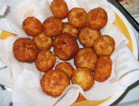 Potato Balls ready to eat