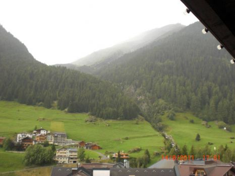 View from our hotel balcony in Ischgl, Austria