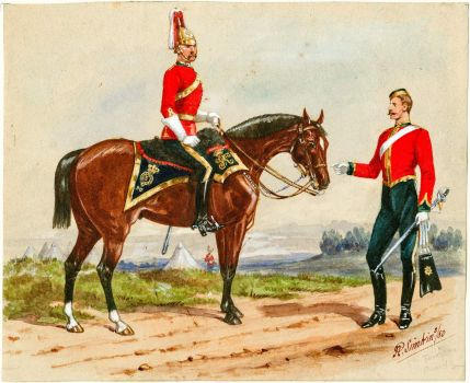 Officers 5th Dragoon Guards c.1880