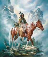 Native American Art-They Call Me Wolf by Russ Docken