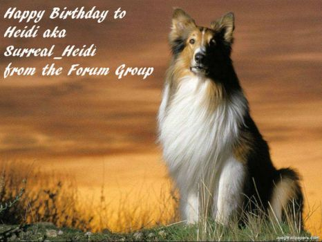 Happy Birthday to Heidi aka Surreal_Heidi