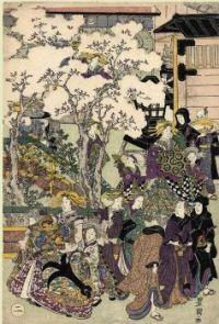 Utagawa Toyokuni: El paseo, 1810