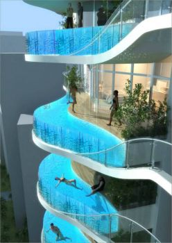 Cool balcony..or pool balcony..