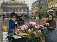 Louis Marie de Schryver--The Flower Seller