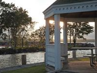 A gazebo by the lake