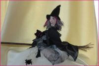 Grizelda the Witch - and her cat!