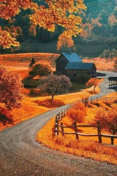 Sleepy Hollow Farm near Woodstock, Vermont.