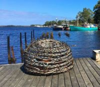 Retired lobster pot