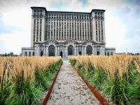 Detroit Michigan abandoned central station