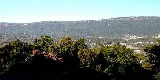 Theme : Mountain and Valley - view across the street, Lookout Mountain in distance