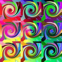 gradiant rainbow swirls