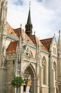 The Church of the Assumption of the Buda Castle, Budapest, Hungary.