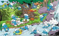 Smurfs swimming 160