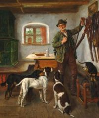 Adolf Eberle (German, 1843–1914), Off to the Hunt