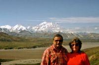 '87 Alaska Trip--A Kansas Sunflower And Her Country Boy--Mount Denali in Background