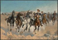 Frederic Remington, Dismounted: The Fourth Troopers Moving the Led Horses (1890)