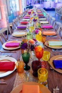 a wedding dinner setting