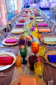 a wedding dinner setting